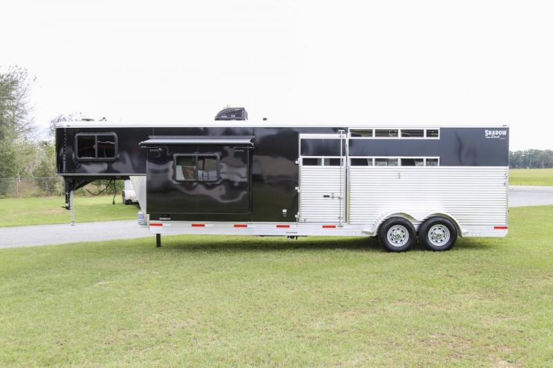 2021 Shadow STOCK 3 Horse Slant Load Gooseneck w / 10'6 LQ