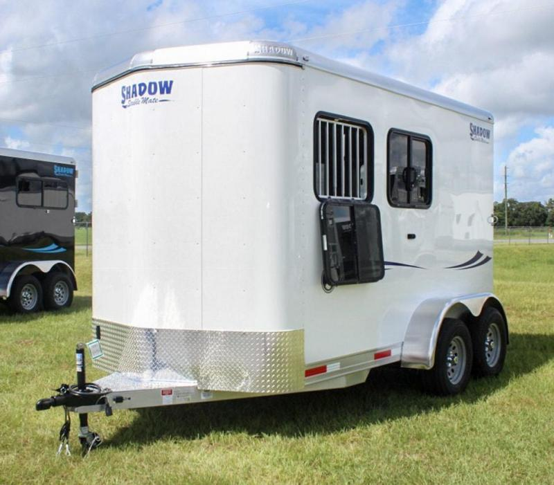 2019 Shadow Trailers Stablemate 2 Horse Trailer Slant Load Bumper Pull w/ Windows All Around