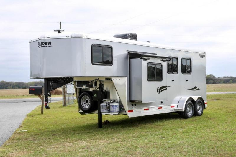 2020 Shadow Competitor 2 Horse Trailer Slant Load 7.6' Living Quarters