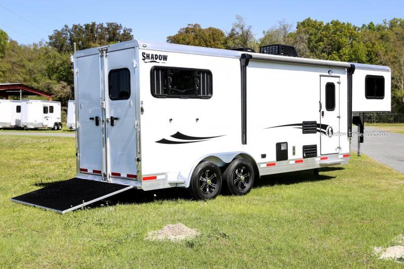 2021 Shadow Getaway 2 Horse Slant Load Trailer Gooseneck w/ Living Quarters