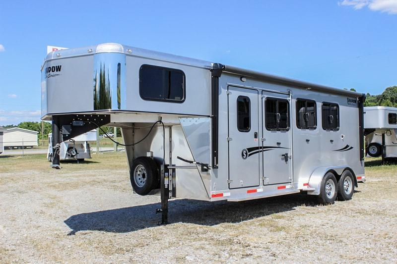 2020 Shadow PRO 3 Horse Slant Load Plus Pack Goose Neck w Escape Door