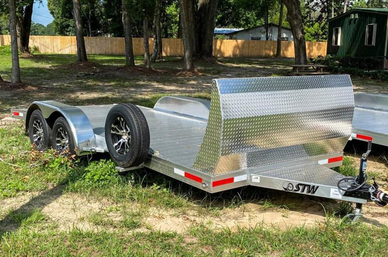 2020 STW Open Car Hauler with Aluminum Wheels and Air Dam