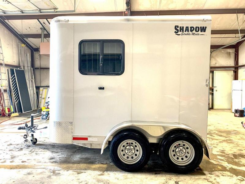 2020 Shadow Stablemate 1 Horse Trailer Slant Load Bumper Pull with Windows All Around SKU BP73233