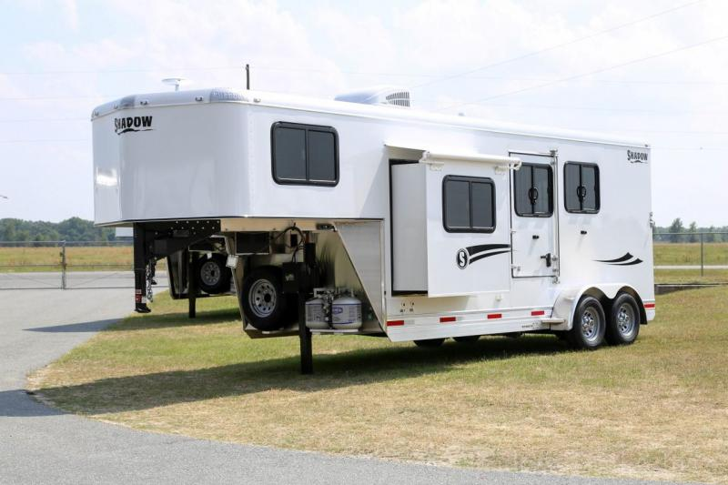 2020 Shadow Trailers 2 Horse Trailer Slant Load with 7.6' Living Quart Horse Trailer