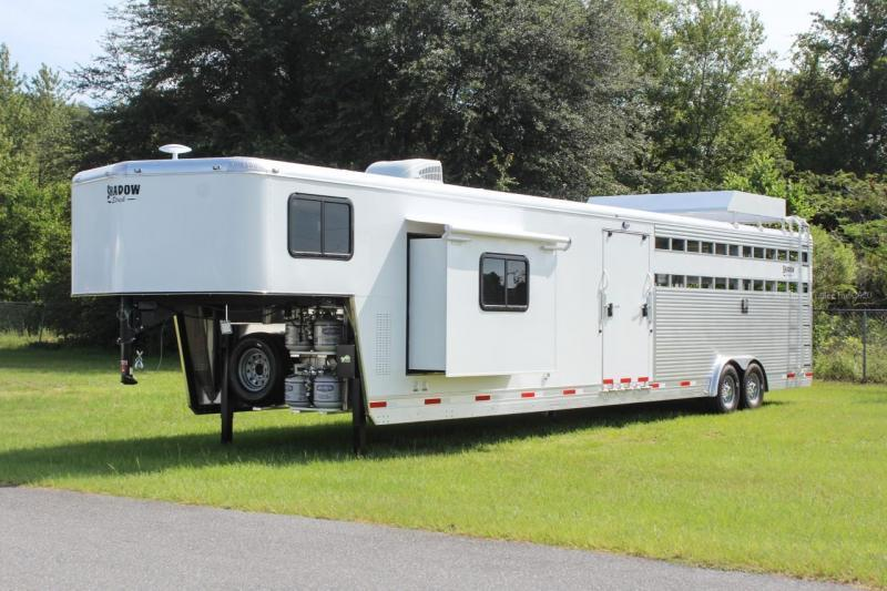 "2021 Shadow Trailers Stock Combo Gooseneck Trailer MidTack w/ 10'6"" Living Quarters"