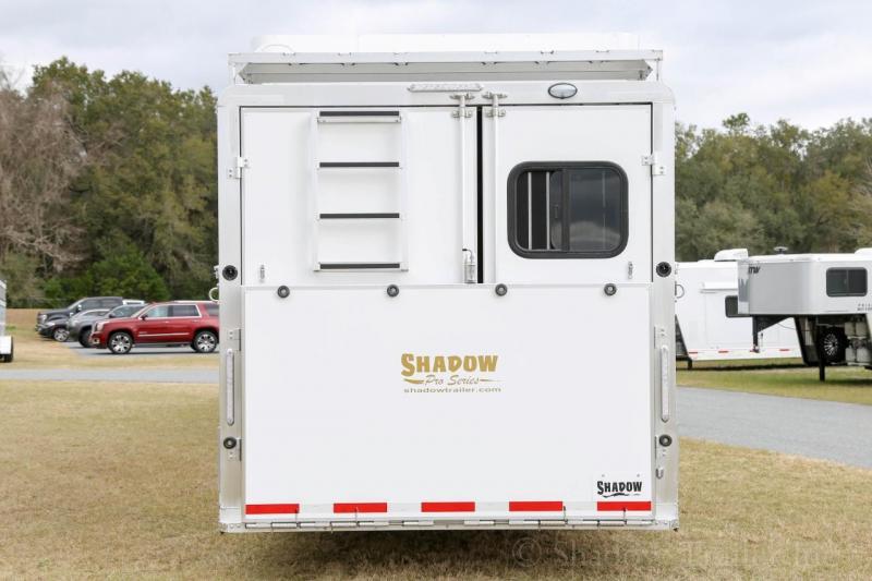 2021 Shadow Trailers 80349E-4SL-GN-E-16'6LQ Horse Trailer