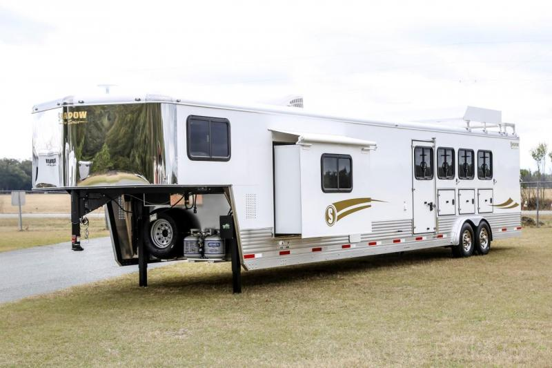 2021 Shadow Trailers 80349E-4SL-GN-E-16'6LQ Horse Trailer