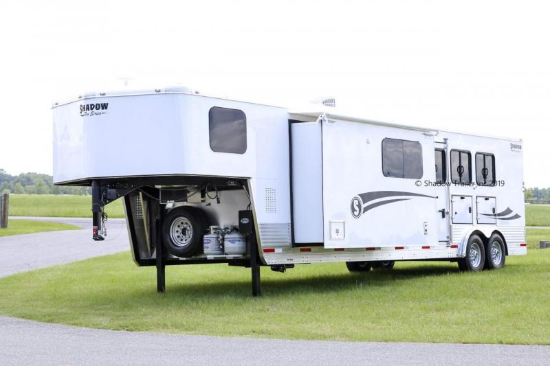 2020 Shadow Pro Series Living Quarter 3 Horse Slant Gooseneck with 14' Living Quarters SKU LQ73698