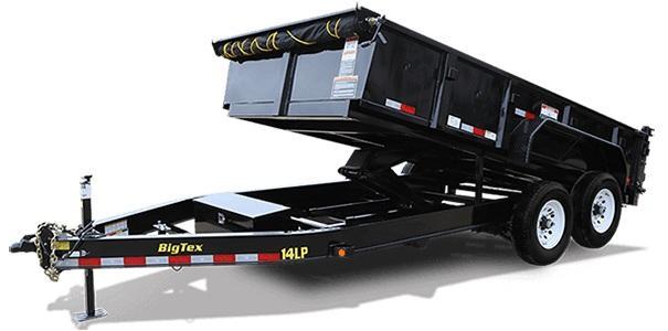 2021 Big Tex Trailers 14LP-14  7X14 WITH 4' HIGH SIDESDump Trailer