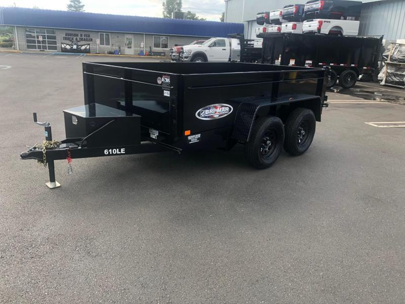 BRI-MAR 2021  6' x 10' TANDEM AXLE LOW PROFILE DUMP TRAILER 9990 LB