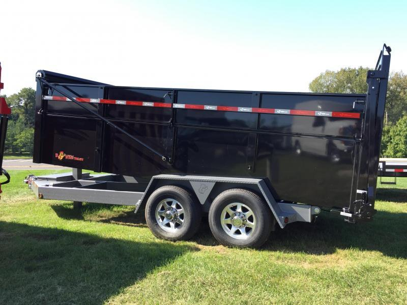 BWISE 2021 DU16-15 BLACK 6.8X16 ULTIMATE DUMP LOW PROFILE TRAILER