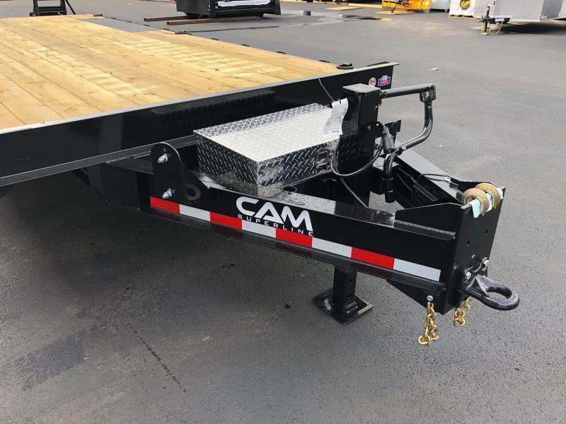 CAM 2021 7-TON 8.5' X 20'  DECKOVER EQUIPMENT TRAILER