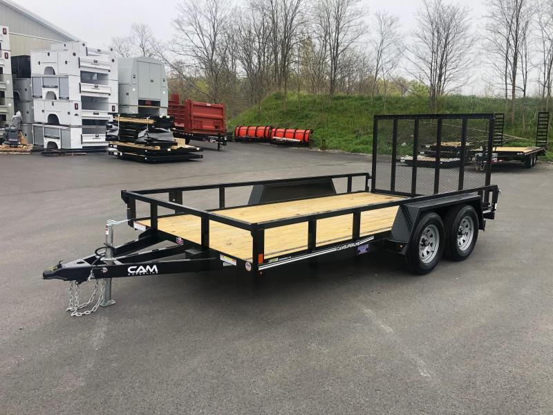 2021 Cam Superline 7 x 14 TA Utility/ Landscape Trailer