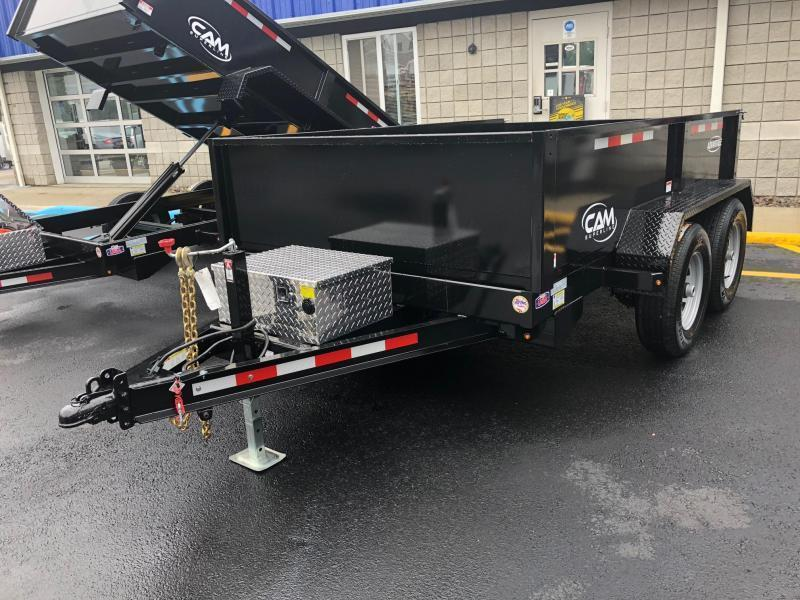 CAM 2021 6' x 10' LOW PROFILE DUMP TRAILER  10000 lb. GVW