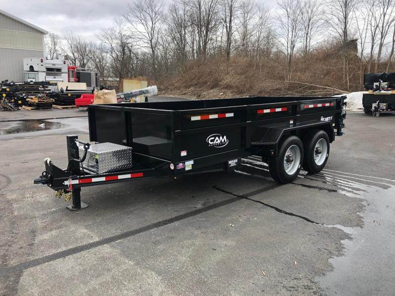 CAM 2019 8-TON 14 FT LOW PROFILE HD DUMP TRAILER