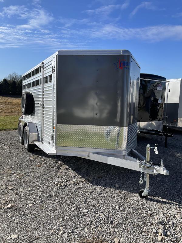 """2021 Frontier Livestock 14'7"""" Livestock Trailer"""