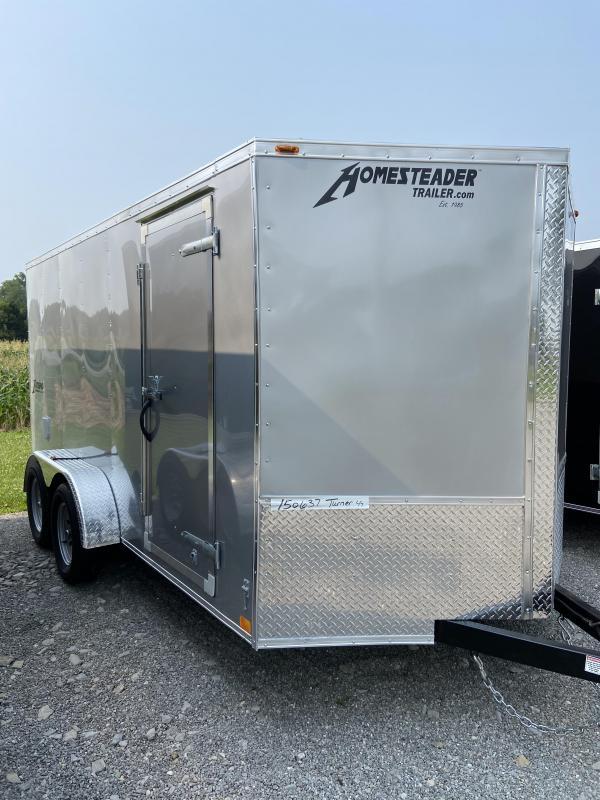 Homesteader 7 x 14 Tandem Axle Enclosed Cargo Trailer