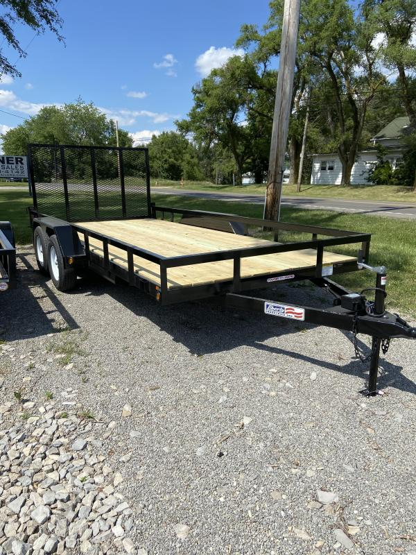 "2020 Liberty LU7K82C4 - 7K Channel Utility 82"" Wide Deck Utility Trailer"