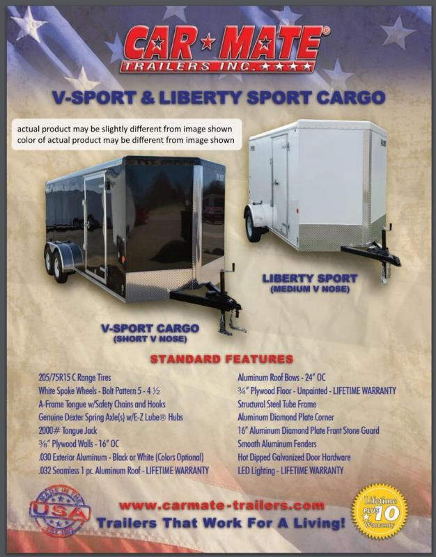 2020 Car Mate 5 X 8 Liberty Sport Trailer