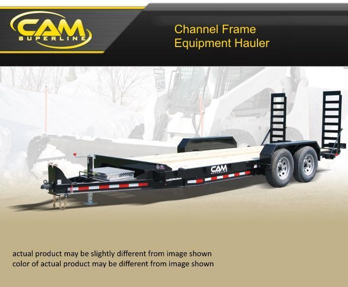 2021 Cam Superline 8.5 X 18 Channel Frame Equipment Hauler Trailer