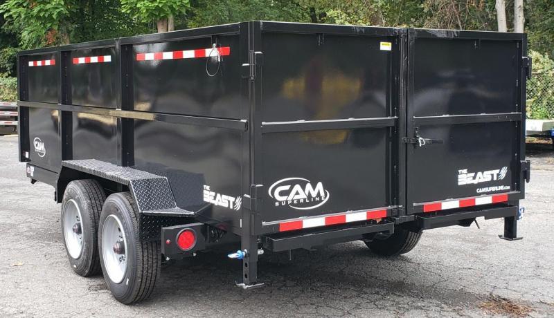 2021 Cam Superline 6.5 X 16 Low Profile Heavy Duty High Sides Dump Trailer