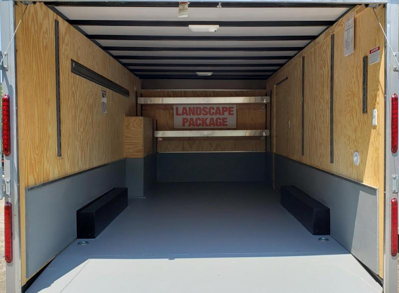 2019 Car Mate Trailers 8 X 18 Enclosed Cargo Trailer w/ Landscape Package