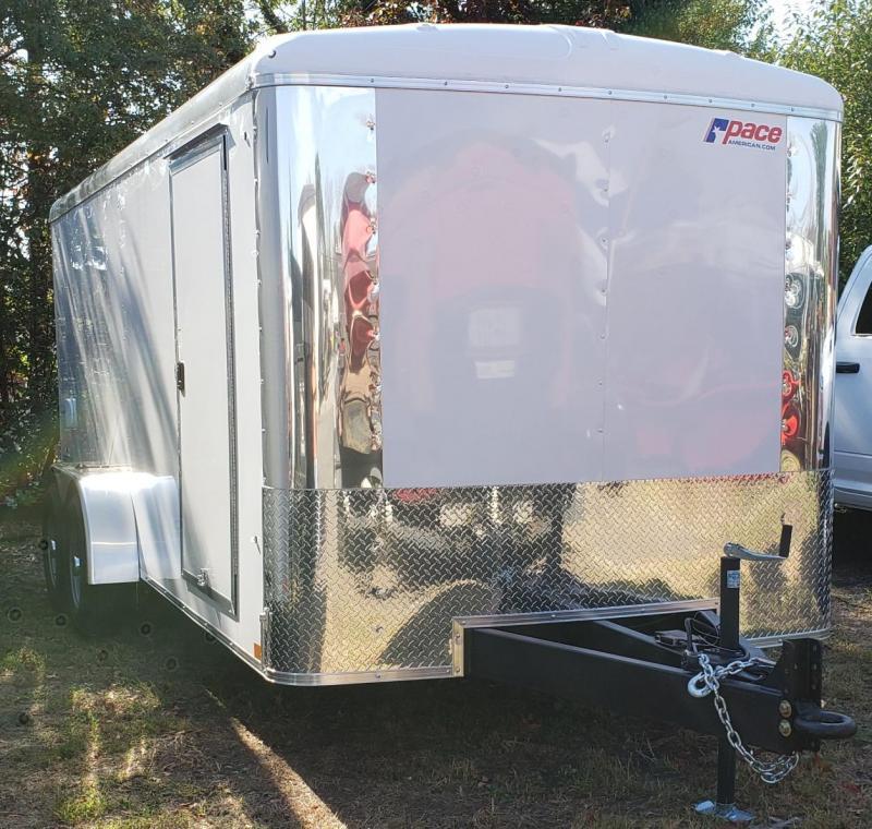 2021 Pace American 7 X 16 Cargo Sport 7 Wide Tandem Trailer