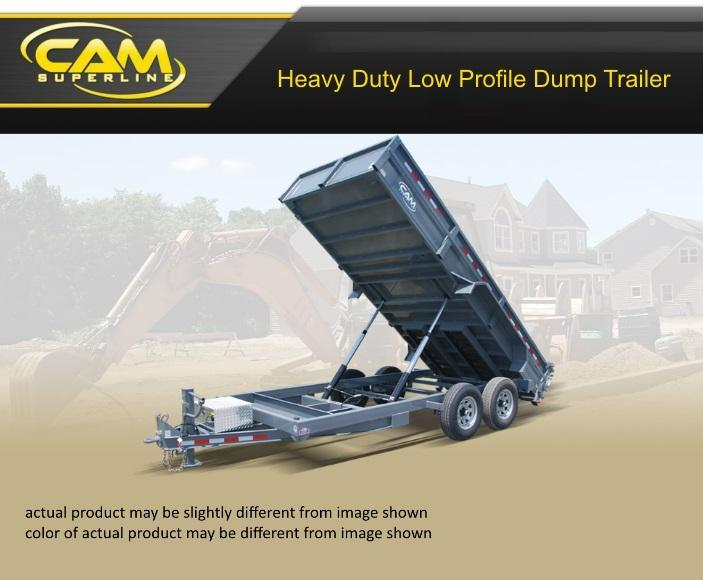 2021 Cam Superline 8.5 X 16 Heavy Duty Low Profile Dump Trailer