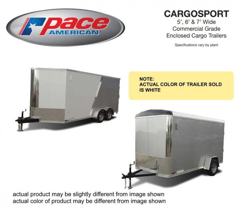2021 Pace American 6 X 12 Cargo Sport 6 Wide Single Axle Trailer