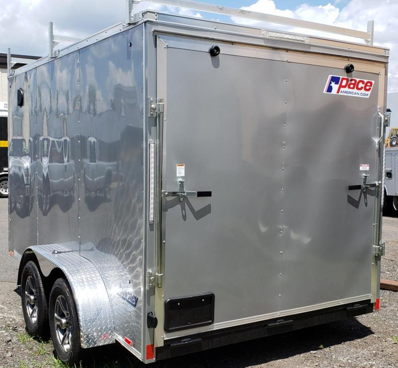 2021 Pace American 7 X 12 Journey SE V-nose Wide Cargo Trailers