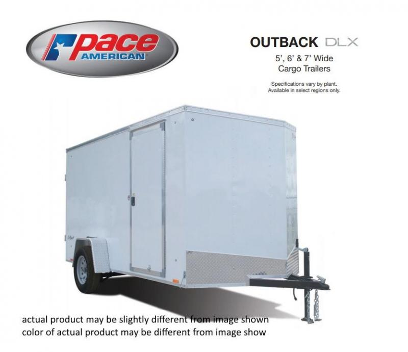 2020 Pace American 6 X 12 Outback Round Top Cargo DLX