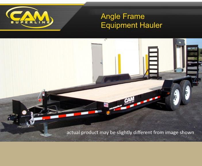 2021 Cam Superline 8 X 18 Angle Frame Equipment Hauler
