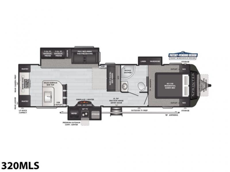 2021 Keystone RV Sprinter Limited 320MLS