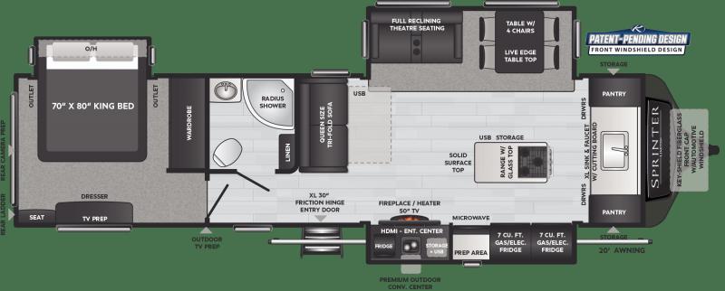 2021 Keystone RV Sprinter Limited 333FKS