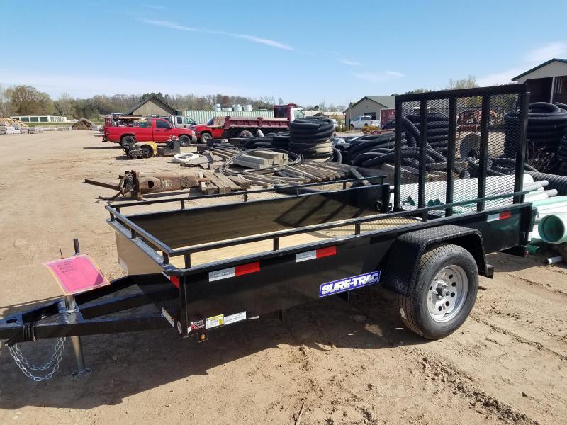 2021 Sure-Trac 5 x 10 Steel High Side Trailer  3K Idler