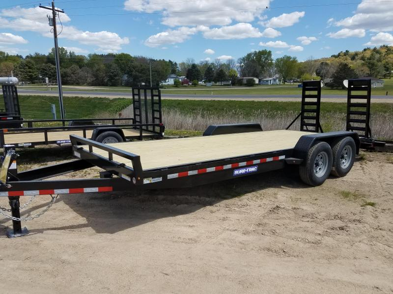 2021 Sure-Trac 7 x 20 (18+2) Equipment Trailer  14K