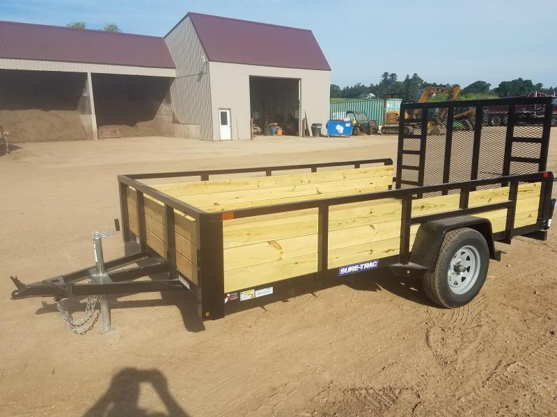 2021 Sure-Trac 7 x 12 Tube Top Three Board Trailer  3K