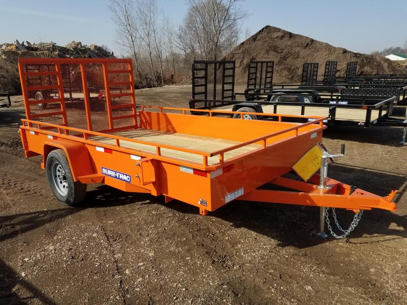 2021 Sure-Trac 7 x 12 Steel High Side Trailer  3K Idler