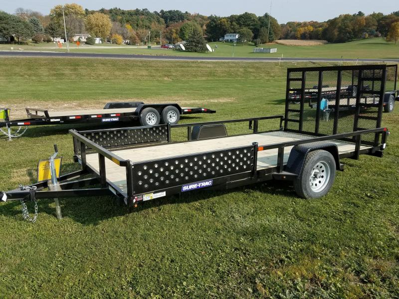 2021 Sure-Trac 7 x 14 Tube Top ATV Trailer  3K Idler