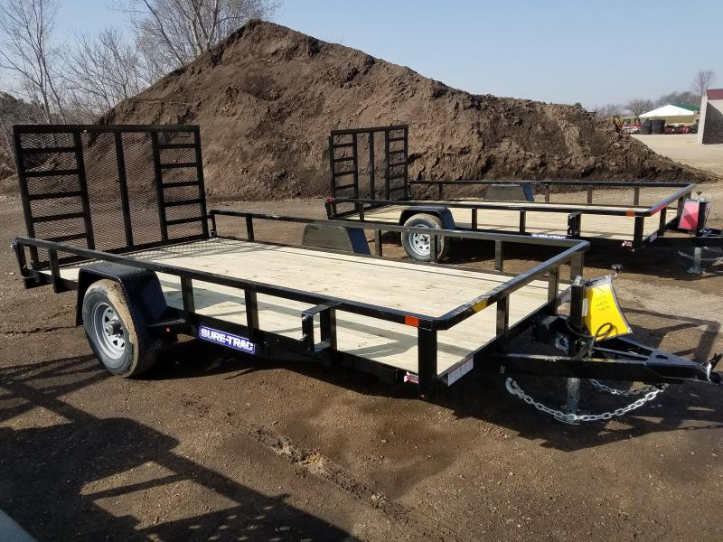 2021 Sure-Trac 7 x 14 Tube Top Utility Trailer  5K Brak