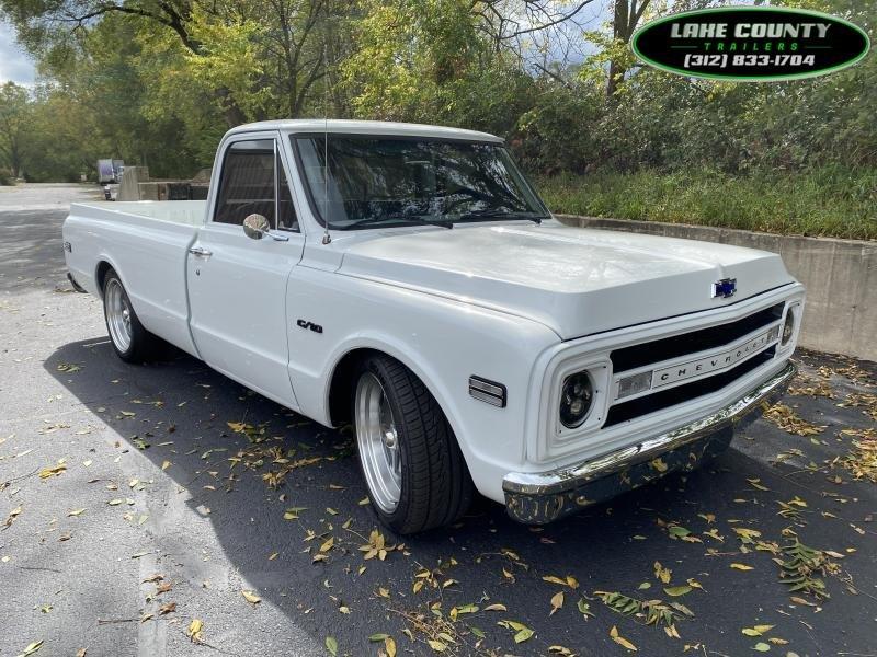 1969 Chevrolet C10 Pick Up Full Restoration We Take All Trades Enclosed Cargo Trailer