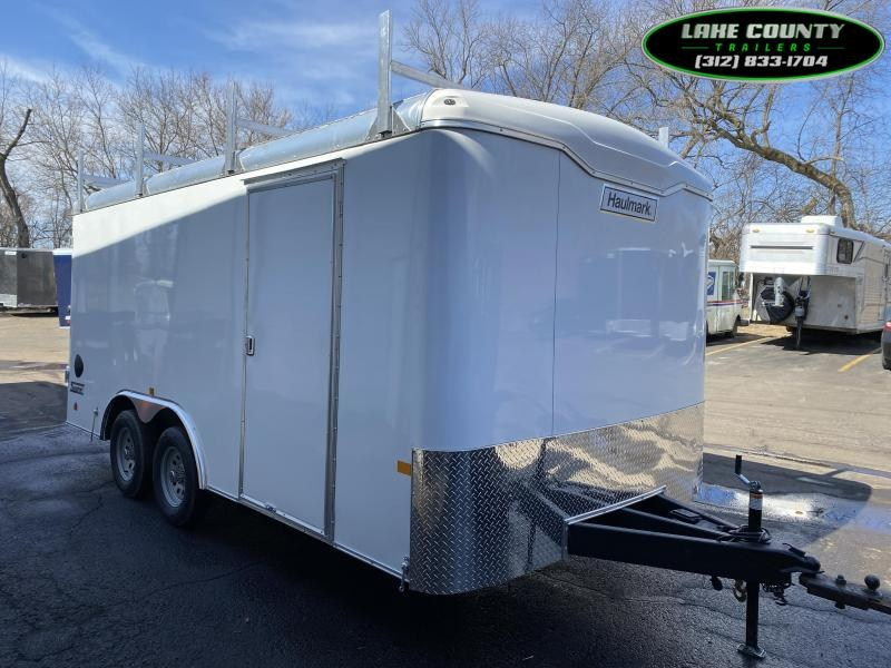 2021 Haulmark TS 8.5X16 With Cargo Doors & Ladder Racks Car / Racing Trailer