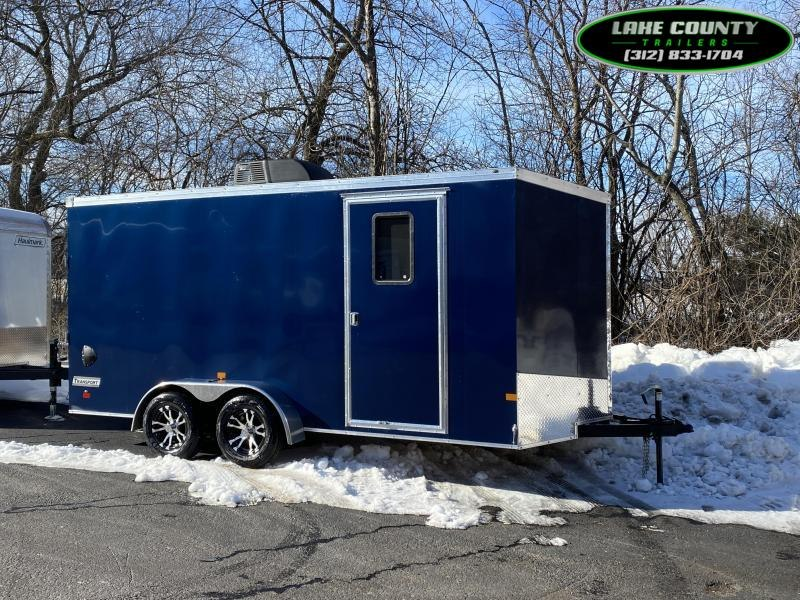 2021 Haulmark TSV 7X16X7 With A/C Heat Window & RV Door Enclosed Cargo Trailer