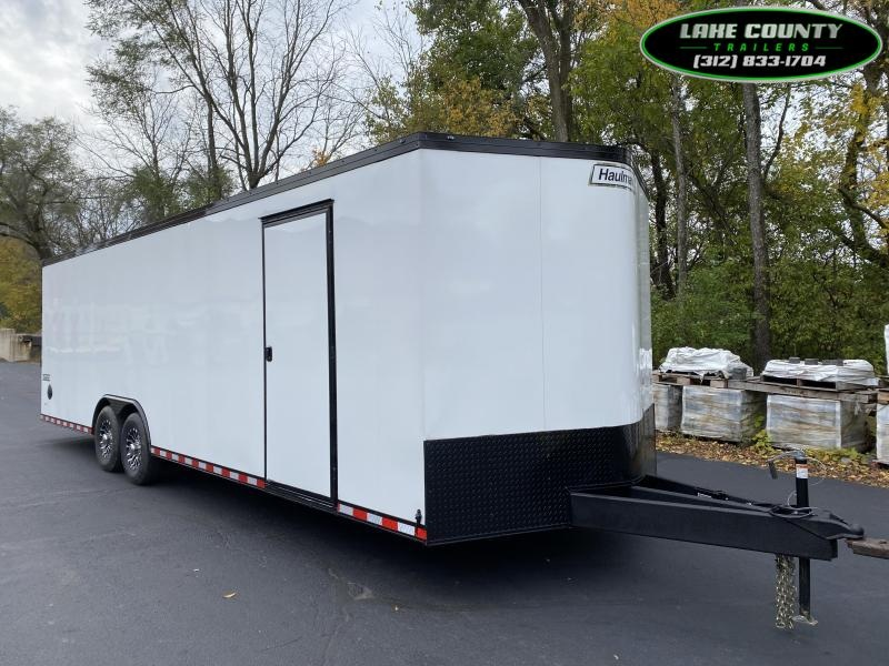 2021 Haulmark TSV 8.5X28X7. 12K GVWR. White Phantom Package Car / Racing Trailer