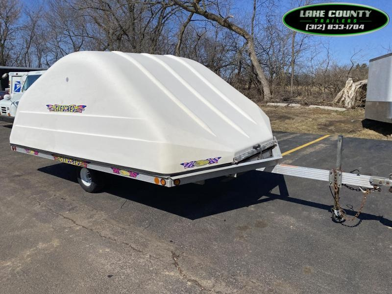 2001 Other SledBed Aluminum Drive On/Off Trailer. 8.5X12 Enclosed Cargo Trailer