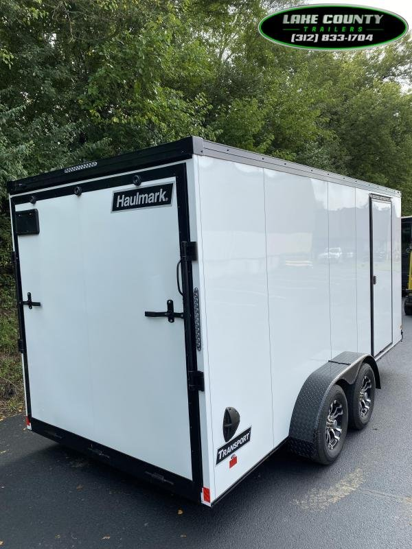 2021 Haulmark Transport V 7X16X7 White With Phantom Package. Enclosed Cargo Trailer
