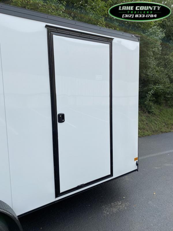 2021 Haulmark Transport V 7X16X7 White With Phantom Package. Enclosed Cargo Trailer