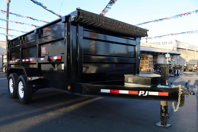 2021 PJ Trailers 14x83 Low Pro High Side Dump Trailer