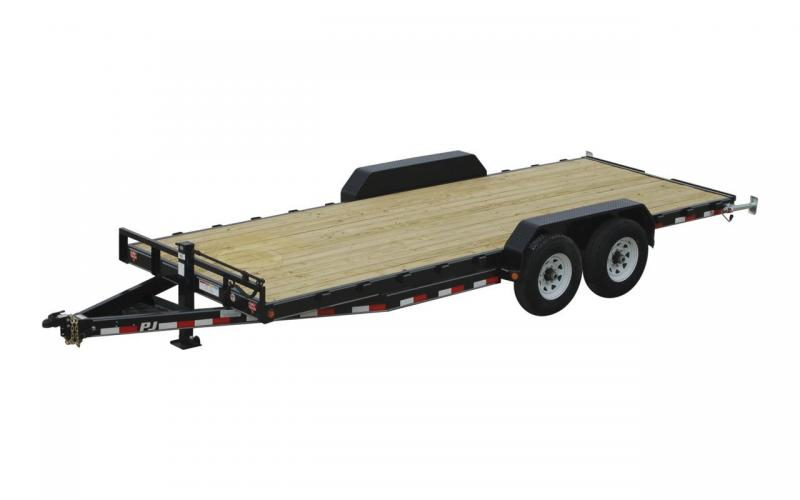 2020 PJ Trailers CC 20x83 6-Inch-Channel-Equipment-Trailer Flatbed Trailer