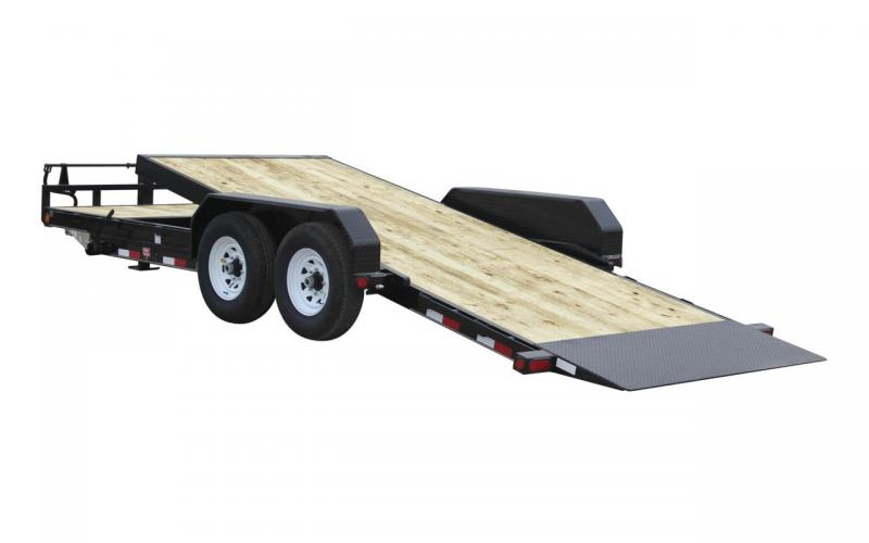 2020 PJ Trailers 20 x 83 T6-6-Inch-Channel-Equipment-Tilt-Trailer Flatbed 14,000GVWR